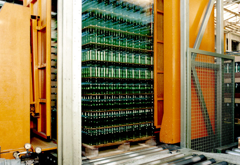 Allseitenzentrierer Paletten Zentrierstation Logistik Systeme Materialflusssysteme Baust