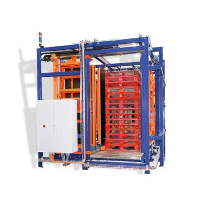 Allseitenzentrierer Zentrierstation Paletten Logistik Systeme Materialflusssysteme Baust