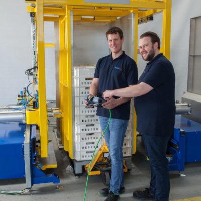 Hybrid Palettenwechsler Pw 2000 H Nutzung Palettenwender Materialflusssysteme Baust