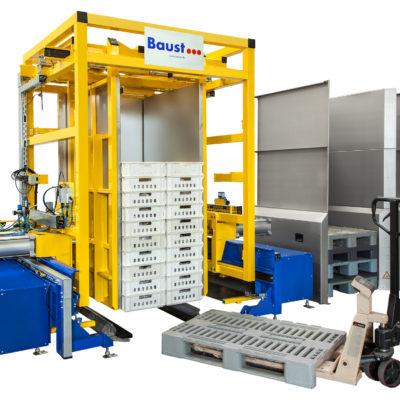 Pw 2000 Palettenwender Foerdertechnik Logistik Systeme Paletten Lager Management Baust Materialflusssysteme