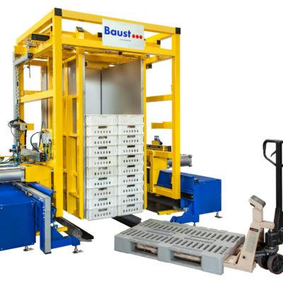 Pw 2000 Palettenwender Foerdertechnik Logistik Systeme Paletten Transport Lager Management Baust Materialflusssysteme
