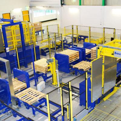 Palettenwechsler Palettenwender Anlage Komplettsysteme Palettieranlage Pallet Changer