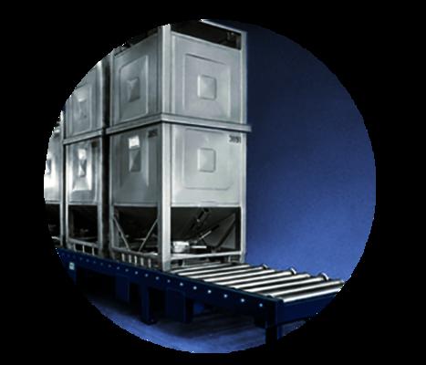 Anwendung Container Materialflusssysteme Stanztechnologie Rollen Automation Baust Gruppe