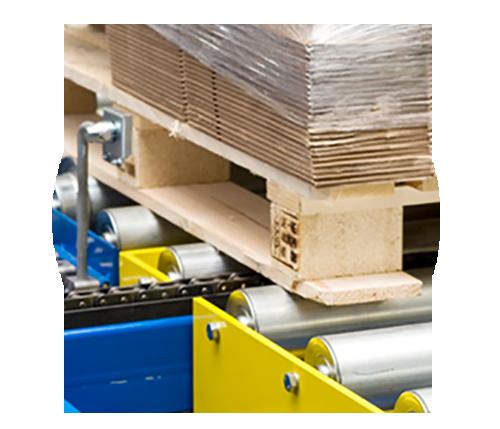 Anwendung Paletten Materialflusssysteme Stanztechnologie Rollen Automation Baust Gruppe