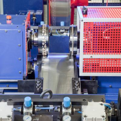 Bau Metallindustrie Druck Stanztechnologie Anwendung Rollen Automation Baust Gruppe7