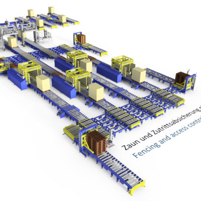 Baust Palettiersystem | Palettiersysteme Automation Komplettsysteme Materialflusssystem 104470 A5