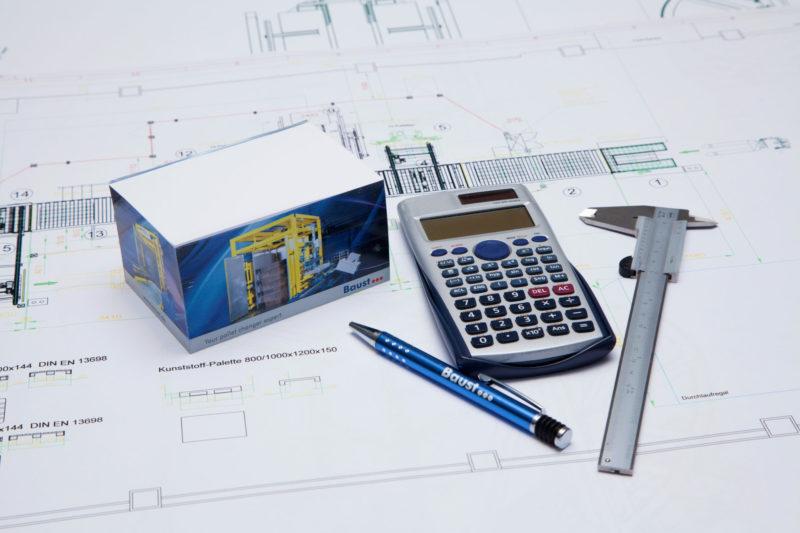 Baust Engineering Konstruktionsprinzipien Anlagentechnik Materialfluss Palettenwechsler Industrieanlagen Logistik Lager