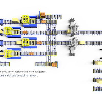 Baust Komplettsysteme Palettieranlage Palettiersystem Materialfluss 104470 A12 Schmal