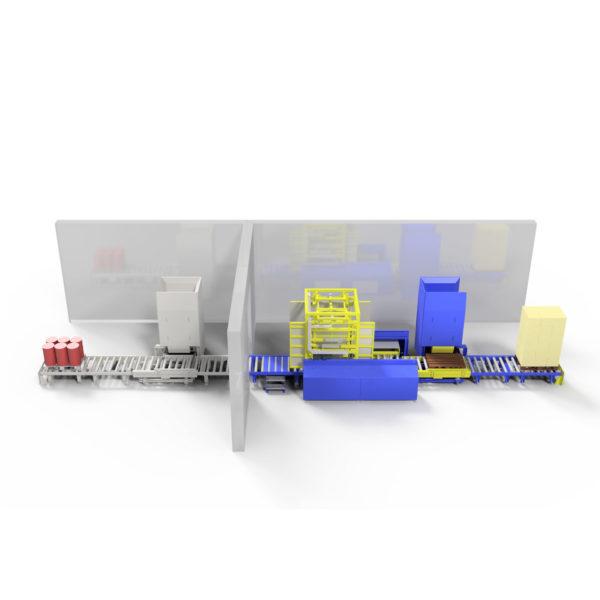 Baust Komplettsysteme Palettieranlage Palettiersystem Materialfluss 108026 A3