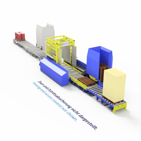 Baust Komplettsysteme Palettieranlage Palettiersystem Materialfluss 108026 A5