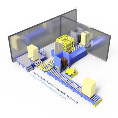 Baust Komplettsysteme Palettieranlage Palettiersystem Materialfluss 89087a6