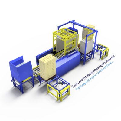 Baust Komplettsysteme Palettieranlage Palettiersystem Materialfluss 99048a