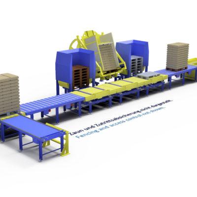 Baust Komplettsysteme Palettieranlage Palettiersystem Materialfluss Pallet Changer 90358a3