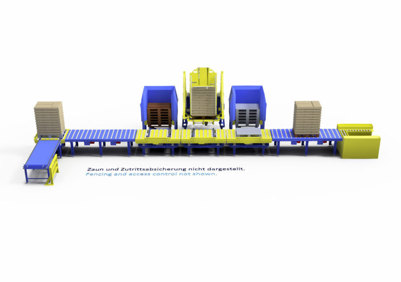 Baust Komplettsysteme Palettieranlage Palettiersystem Materialfluss Pallet Changer 90358a5