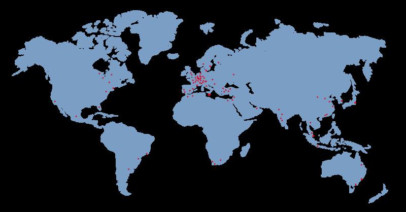 Baust Referenzen Welt Karte Randlos