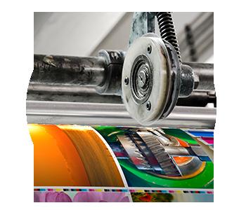 Branche Druckindstrie Materialflusssysteme Stanztechnologie Rollen Automation Baust Gruppe