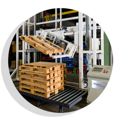 Palettendrehstation Logistik Systeme Logistikmanagement Lagermanagement Materialflusssysteme Baust