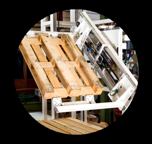 Palettenhandling Automation Palettendrehstation Logistik Systeme Logistikmanagement Lagermanagement