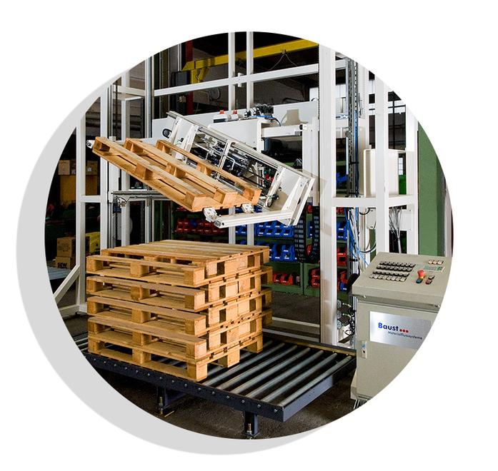 Palettendrehstation Logistik Systeme Logistikmanagement Lagermanagement Materialflusssysteme Baust