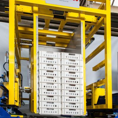 Palettenhandling Hybrid Palettenwechsler Pw 2000 H Palettendreher Palettenwender Materialflusssysteme Baust