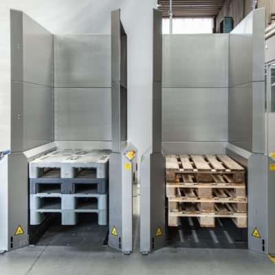 Palettenmagazin Logistik Paletten Lagermanagement Foerdertechnik Baust Materialflusssysteme
