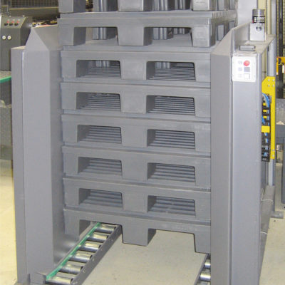 Palettenmagazin Logistik Systeme Paletten Staoeln Lagermanagement Foerdertechnik Baust Materialflusssysteme