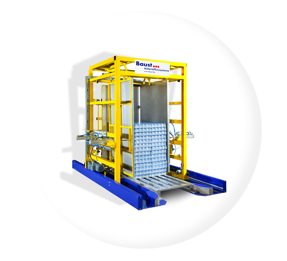 Pw 3000 Ueberschiebeverfahren Palettenwechsler Paletten Wechseln Materialflusssysteme Baust