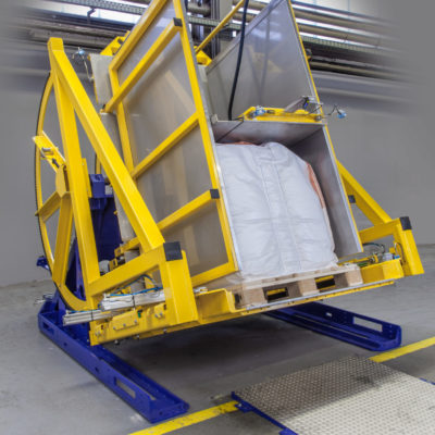 Pw 800 Palettenwender Palletendrehstation Big Bag Logistik Foerderung Baust Materialflusssysteme