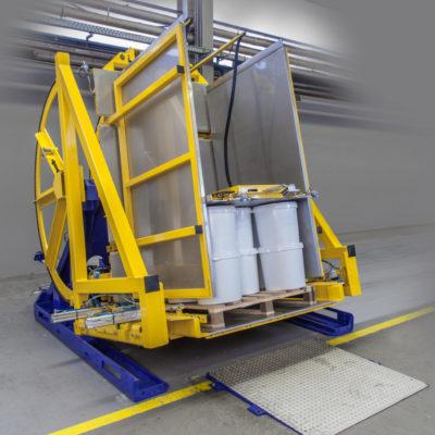 Pw 800 Palettenwender Ware Eimer Logistik Foerderung Baust Materialflusssysteme