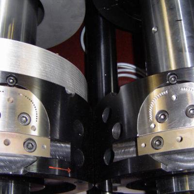 Rotations Rollen Druck Stanztechnologie Anwendung Rollen Automation Baust Gruppe