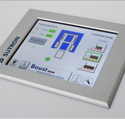 Steuerungstechnik Display Logistik Systeme Logistikmanagement Lagermanagement Materialflusssysteme Baust