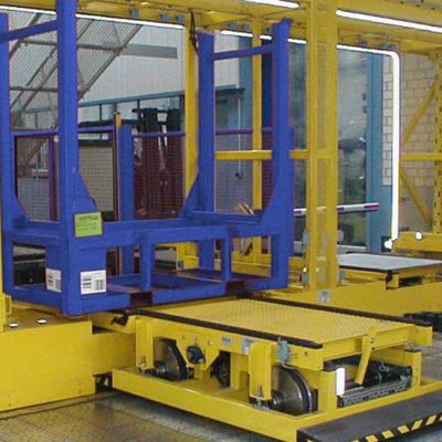 Verfahrwagen Logistik Systeme Verteilwagen Logistikmanagement Lagermanagement Materialflusssysteme Baust